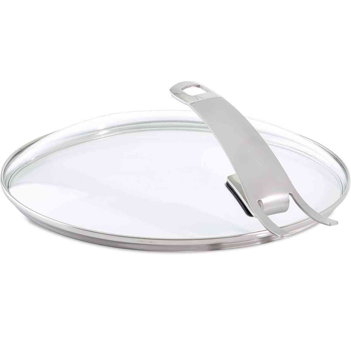"""Premium Glass Lid for Fry Pan with Hook-in Function (9.5"""")"""