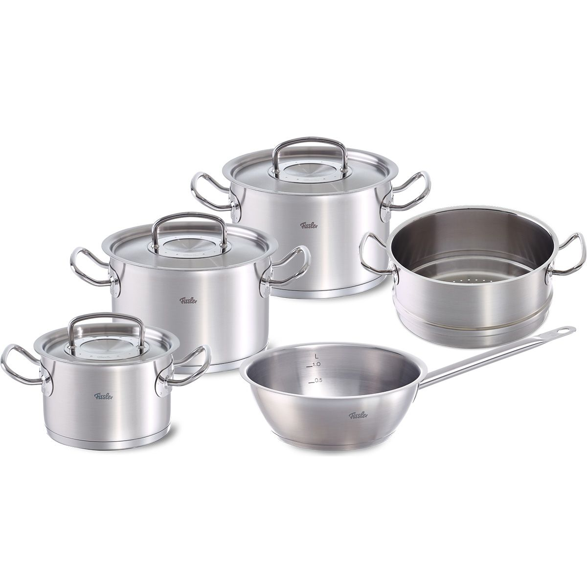 Fissler Original Profi Collection Topf Set Mit Dämpfeinsatz 5 Tlg