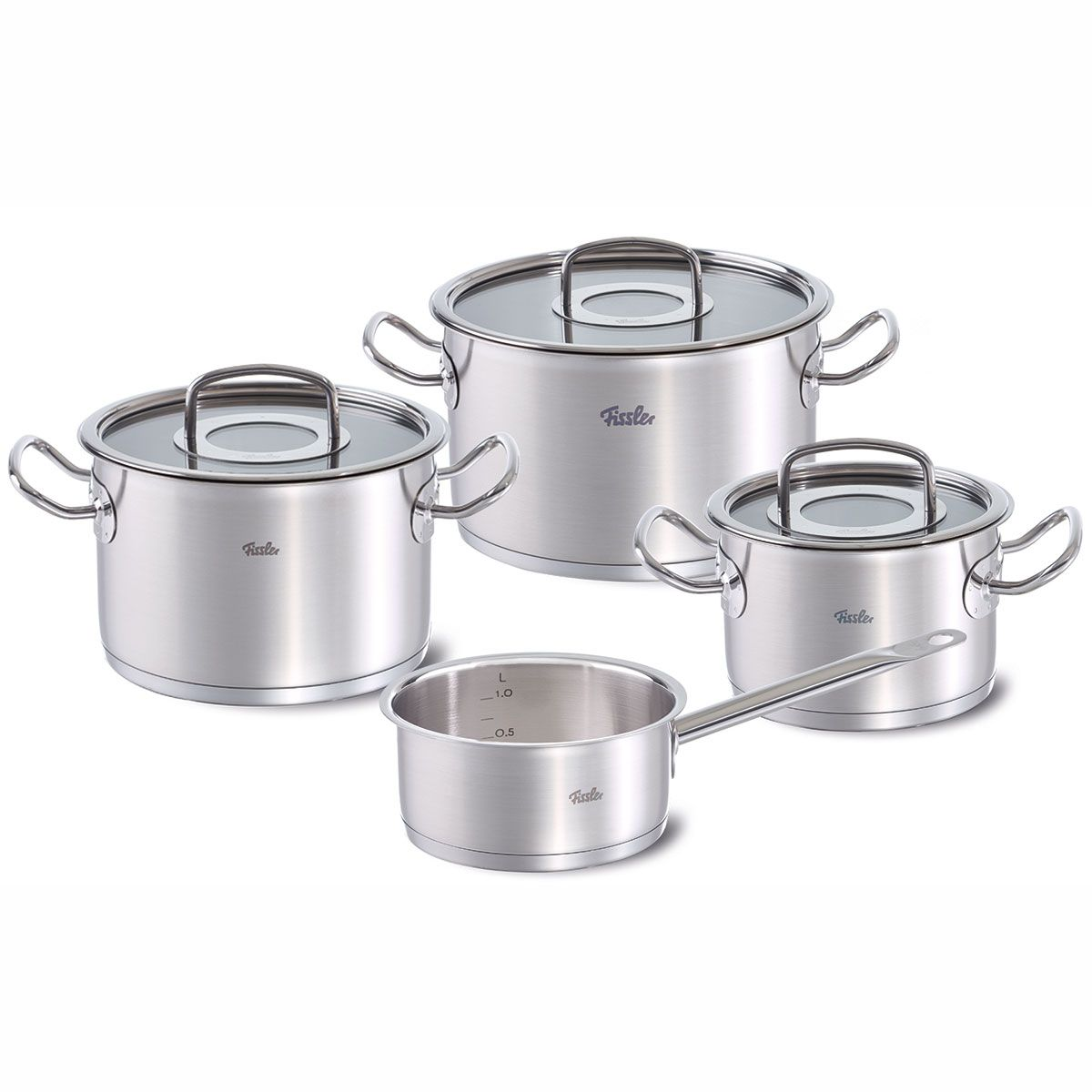 Fissler Original Profi Collection Topf Set 4 Tlg Mit Glasdeckel