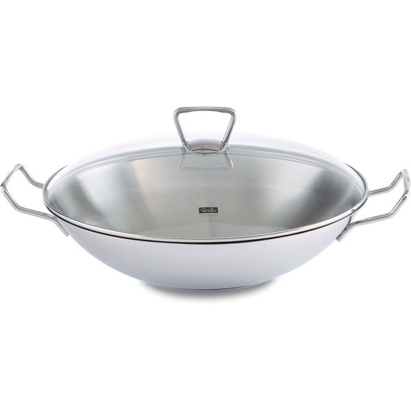 kunming wok with glass lid 14.2in