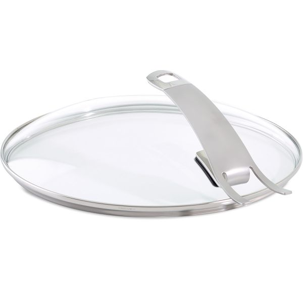 "Premium Glass Lid for Fry Pan with Hook-in Function (9.5"")"
