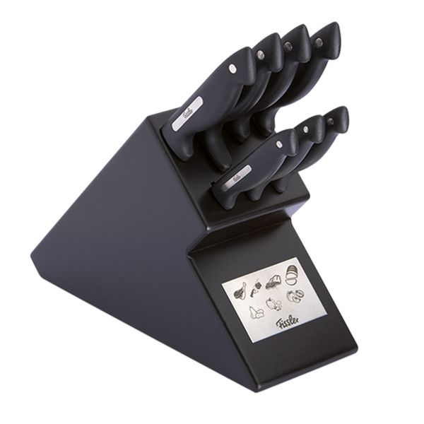 signum knife block 7-piece black