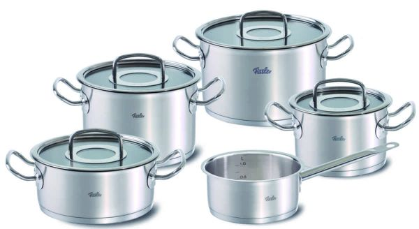 original-profi collection 9-Piece Set with Glass Lids