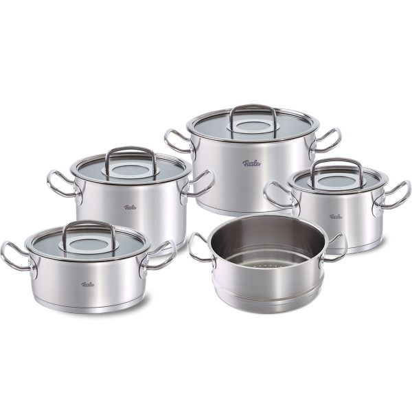 original-profi collection 5-piece set with glass lid and steam insert