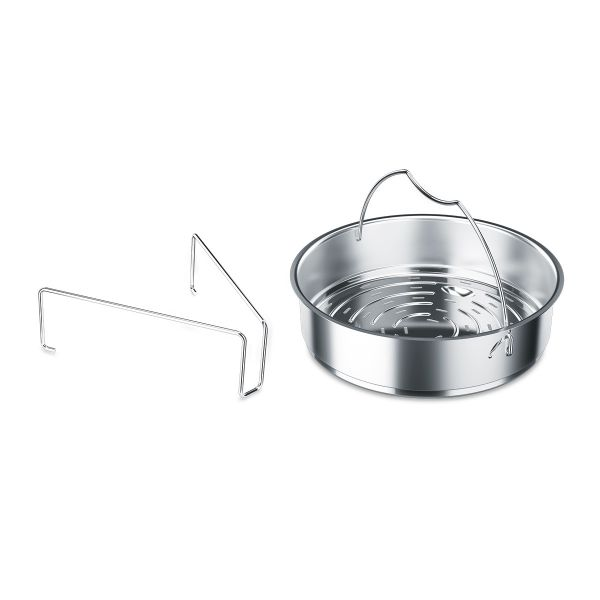 "Perforated Insert with Tripod for 8.7"" Pressure Cooker"