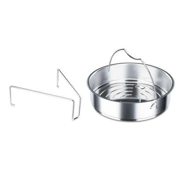 "vitavit® Pressure Cooker Insert unperforated 8.7"" incl. tripod"