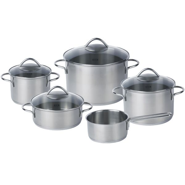 vienna 5-piece set with glass lid