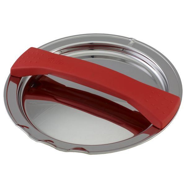 magic line metal lid red for pot with 16 cm