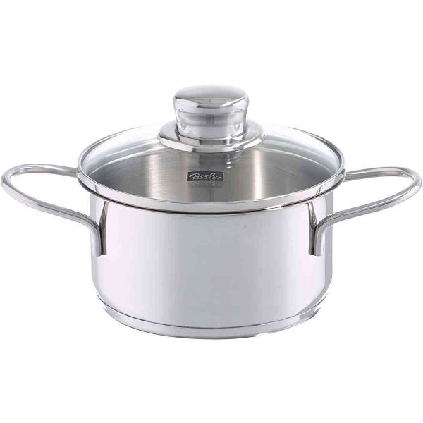 snack-set stew pot 14 cm with glass lid