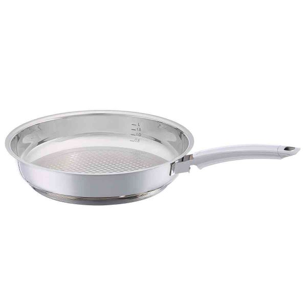 Crispy Steelux Premium Stainless Steel Frying Pan