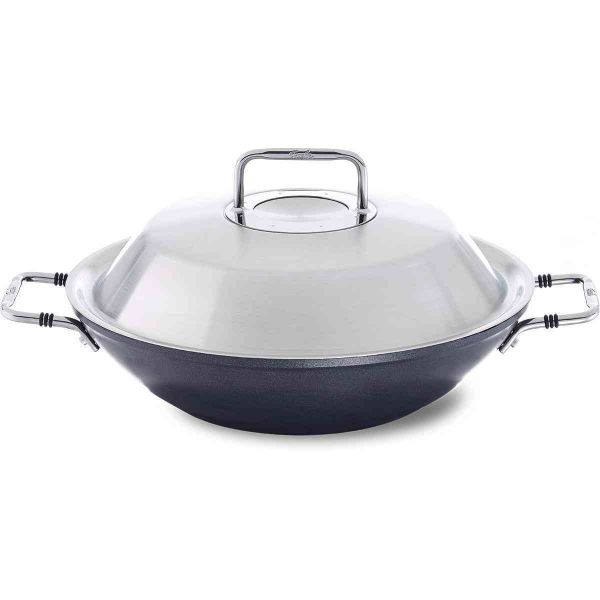 adamant® Non Stick Wok with Stainless Steel Lid, 12.2 Inch
