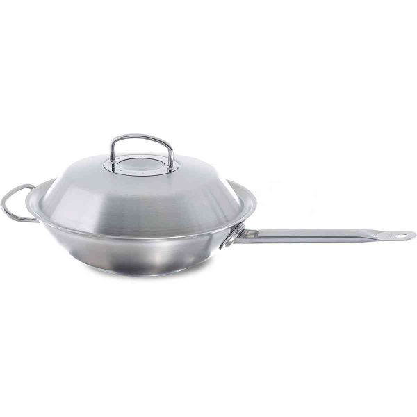 original-profi collection Wok 11.8in with Long Handle and High Domed Lid
