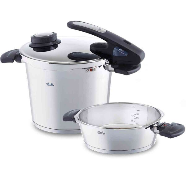 vitavit edition design pressure cooker 2-piece set with insert 22 cm / 6,0 + 2,5 ltr.