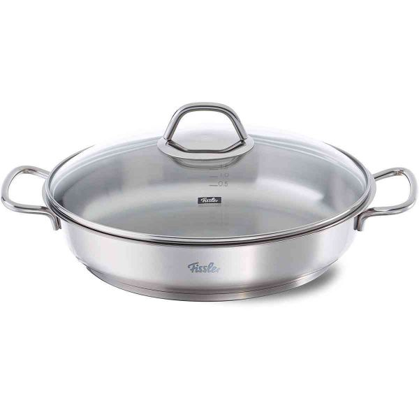 original-profi collection Stainless Steel Serving Pan with Glass Lid