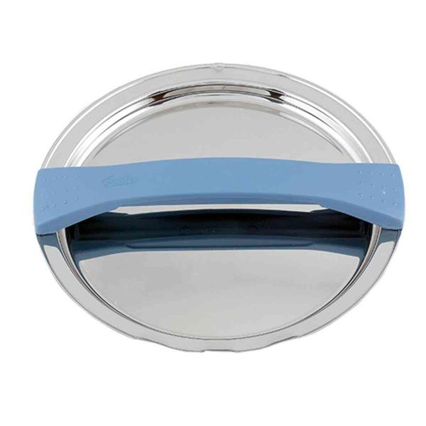 magic line metal lid blue for pot with 24 cm