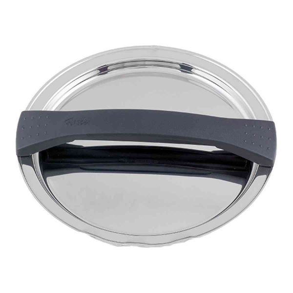 magic line metal lid black for pot with 16 cm
