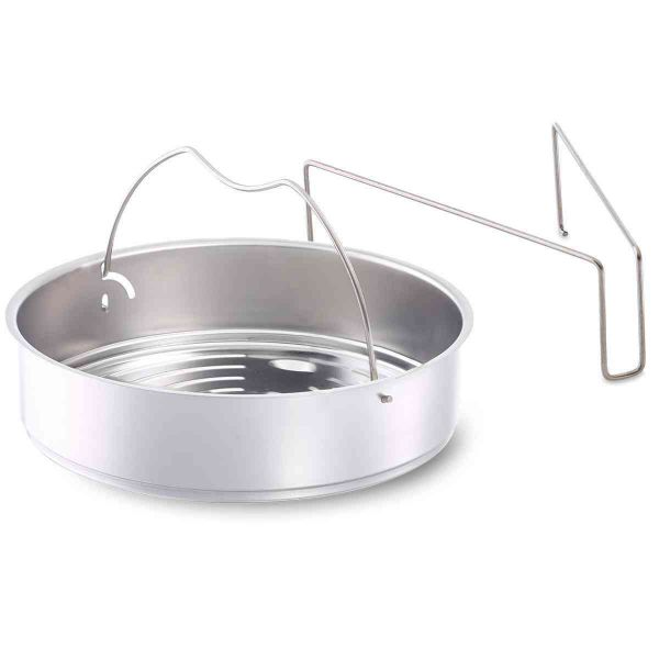 pressure cooker insert unperforated 22 cm incl. tripod