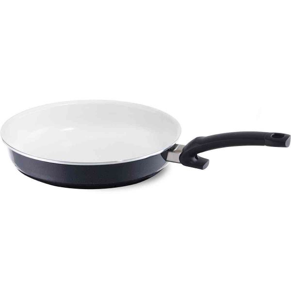 "Crispy Non Stick Ceramic Frying Pan, 9.4"", White"