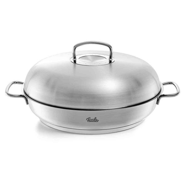 original-profi collection Stainless Steel Serving Pan 12.6in with High Dome Lid