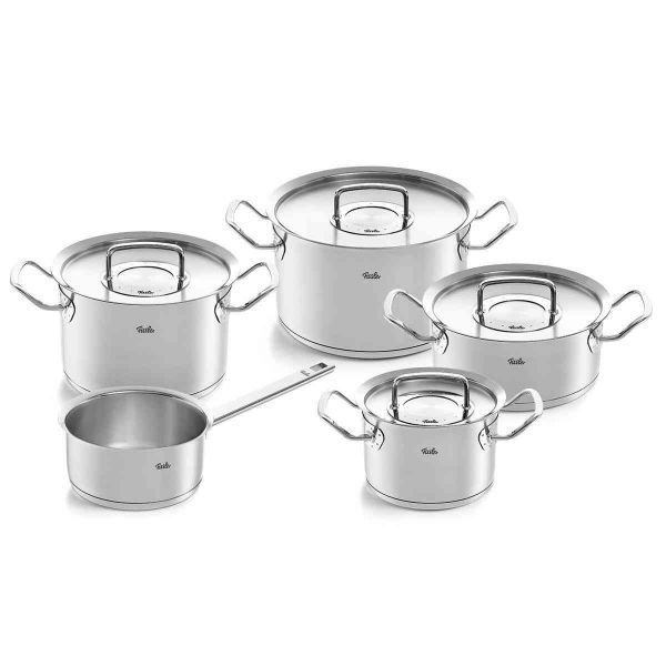 pure-profi collection 5-piece pot set with saucepan