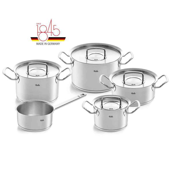pure-profi collection 9-piece Set with Stainless Steel Lids