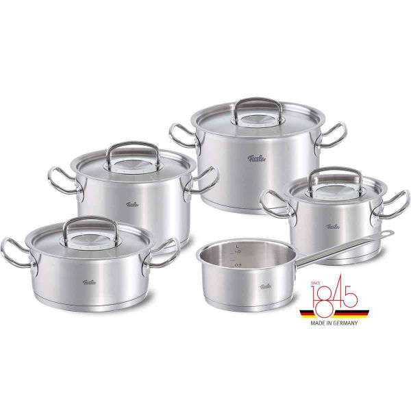 original-profi collection 9-piece Cookware Set with Stainless Steel Lids