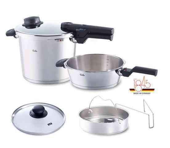 vitavit® comfort 6-piece Pressure Cooker and Skillet Set, 6.3 Quart + 2.6 Quart