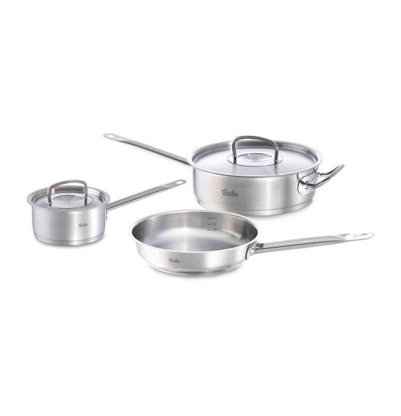 original-profi collection® 5-Piece Stainless Steel Pans Set