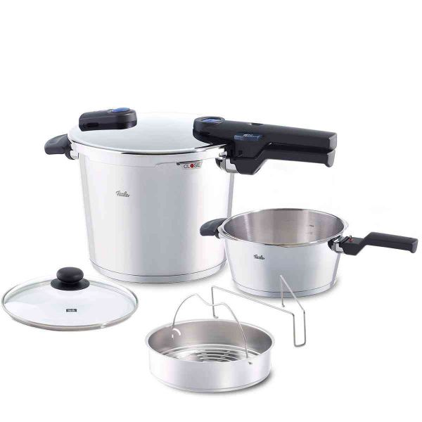 Open Box, vitaquick® 6-Piece Pressure Cooker and Skillet Set, 6.3 Quart & 2.6 Quart