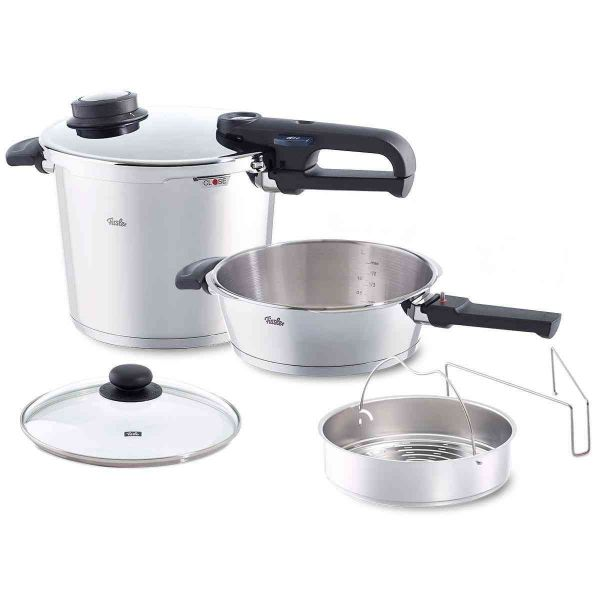 Open Box - vitavit® premium Pressure Cooker and Pressure Skillet Set, 6.3 Quart & 2.7 Quart