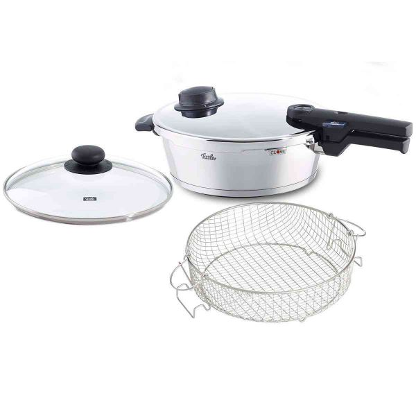 vitaquick Pressure Skillet 10.2in 4.2qt with Glass Lid and Insert