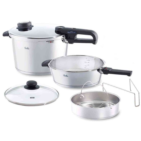 vitavit premium 6-Piece Pressure Cooker and Skillet Set, 8.5 Quart & 4.2 Quart