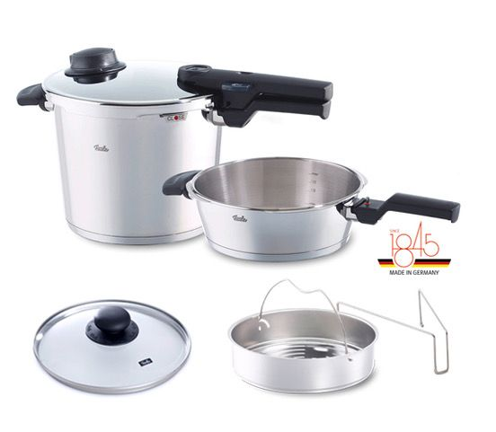 vitavit comfort 6-piece Pressure Cooker Set with 6.3qt and 2.7qt Pots